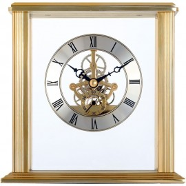 Vermont Gold Skeleton Mantel Clock 15.4cm