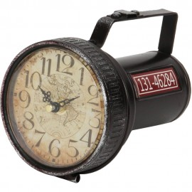 Mantel Clock Red Torch 11.5cm