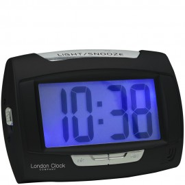 Rectangle Black Digital Alarm Clock 10.5cm