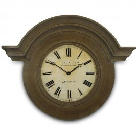 French Chateau Brown Wall Clock 63cm