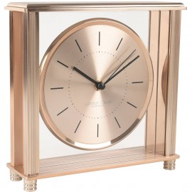 Square Rose Gold Mantel Clock 20cm
