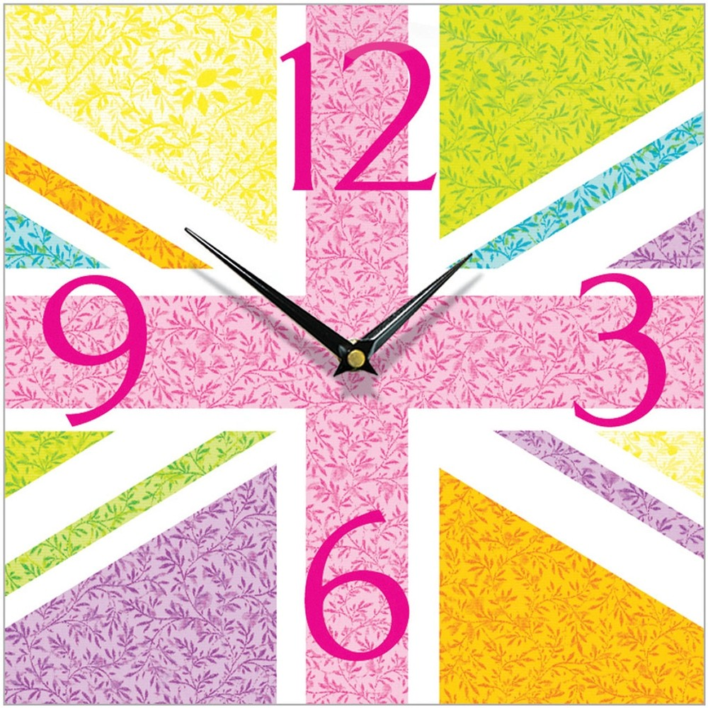 Antique floral union jack wall clock 285cm antique floral union jack wall clock 285cm zoom amipublicfo Images