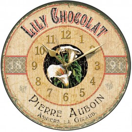 Lily Chocolat Vintage Wall Clock 28.5cm