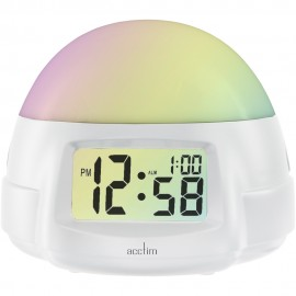 Selene Colour Change USB Smart Connector Alarm Clock 11cm