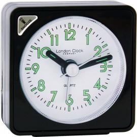 Black Mini Travel Alarm Clock 6cm