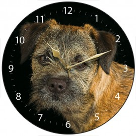 Border Terrier Wall Clock 28.5cm
