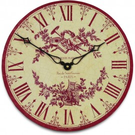 French Toile Wall Clock 36cm