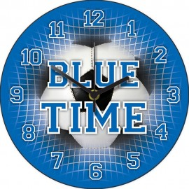 Blue Time Football Wall Clock 28.5cm