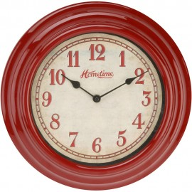 Galla Plastic Wall Clock with Finish Red 30cm