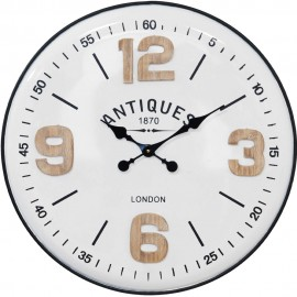 MDF Wall Clock Large Quarter Numbers 61.5cm