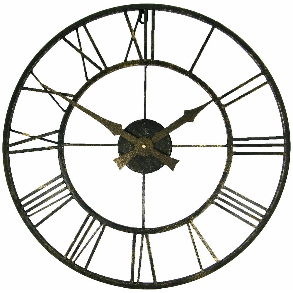 Pre Aged Outdoor Wall Clock 50cm
