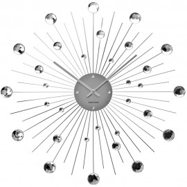 Sunburst Crystal Wall Clock 30cm or 50cm