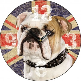 British Bulldog Wall Clock 28.5cm