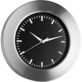Brushed Aluminium & Glass Wall Clock 30cm
