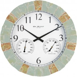 Outdoor Wall Clock with Thermometer & Hygrometer 35cm