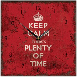 Keep Calm Square Wall Clock 28.5cm, 36cm or 45cm