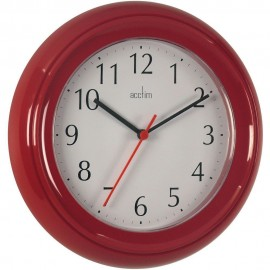 Wycombe Red Wall Clock 22.5cm