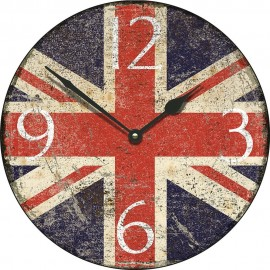 Large Shabby Chic Union Jack Wall Clock 45cm