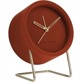 Lush Velvet Clay Brown Alram Clock 18cm