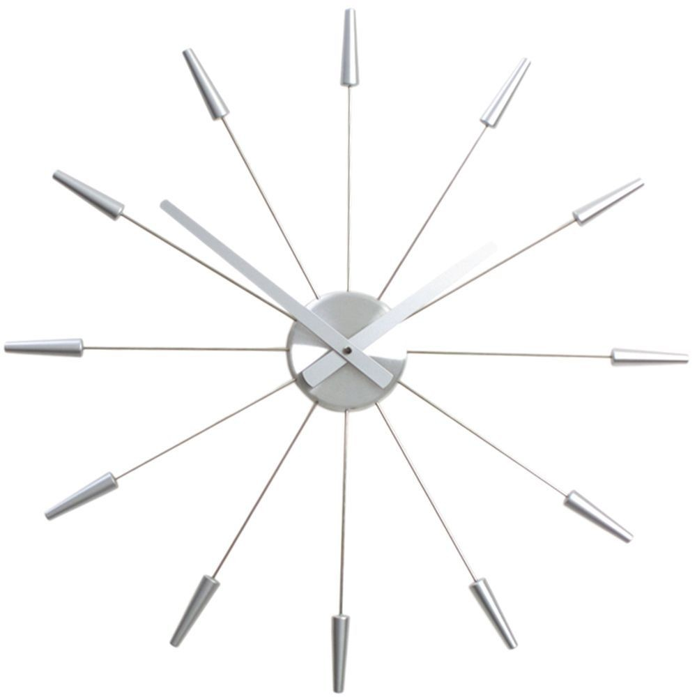 Spoke wall clock image collections home wall decoration ideas all nextime clocks silver spoke wall clock 58cm amipublicfo image collections amipublicfo Gallery