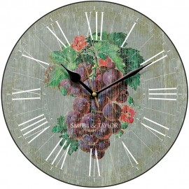 Grape Harvest Slate Wall Clock 28.5cm