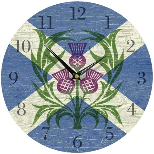 Scottish Emblem Wall Clock 28.5cm