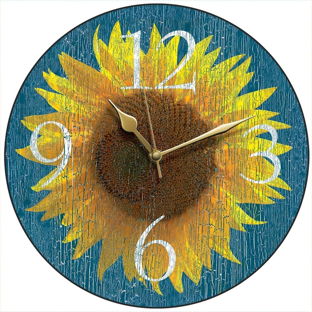 Sunflower Wall Clock 28 5cm
