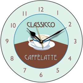 Perkins & Morely Caffe Latte Wall Clock 28.5cm