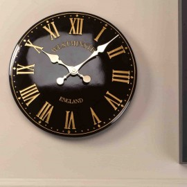 Westminster Tower Black Outdoor Wall Clock 30cm