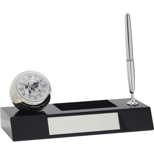 World Time Clock Desk Set 20cm