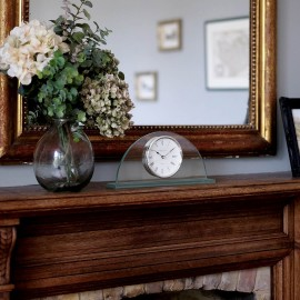 Half Moon Mantel Clock 34cm