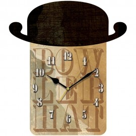 Bowler Hat Wall Clock 35.5cm