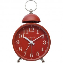 Single Bell Red Alarm Clock 16cm