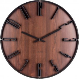 Sentient Dark Wood Wall Clock 40cm