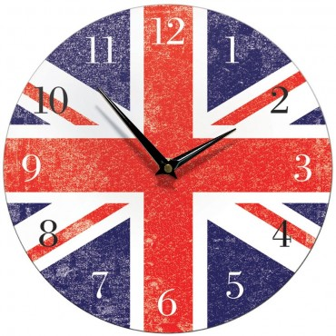 Union Jack Wall Clock 28.5cm