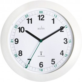 Milan Radio Controlled White Wall Clock 25.5cm