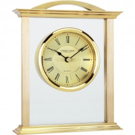 Gold Mantel Clock 18cm