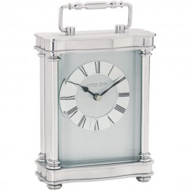 Silver Carriage Clock 19cm