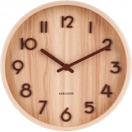 Pure Small Light Basswood Wall Clock 22cm