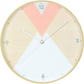 Round Geometric Wall Clock 30.5cm