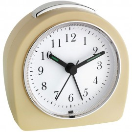 Retro Beige Sweeping Alarm Clock 9cm