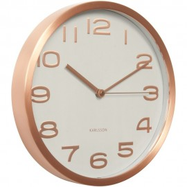 Maxie Copper White Wall Clock 29cm