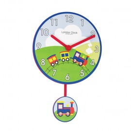 Train Wall Clock With Pendulum 40cm