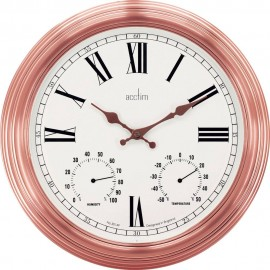 Grasmor Outdoor Wall Clock With Temperature & Humidity Dials 42cm