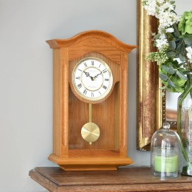 Oak Finish Westminster Chime Pendulum Clock 47cm