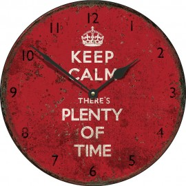 Large Keep Calm Plenty Of Time Wall Clock 45cm