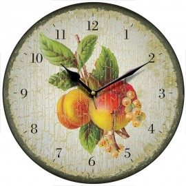 Vintage Apricots Wall Clock 28.5cm