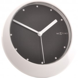 Balance White Table Clock 18cm