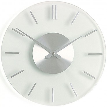Stripe Glass Wall Clock 31cm