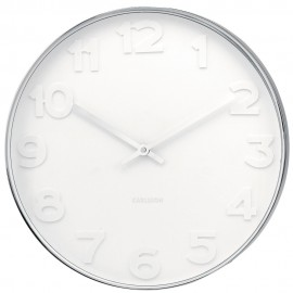 Mr White Numbers Wall Clock 37.5cm or 51cm